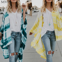 Wholesale kimono for sale - Chiffon Kimono Blouse Women Shirt Summer Cardigans Womens Tops and Blouses Loose Tie Dye Print blusas mujer
