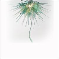 plafones hechos a mano al por mayor-Estilo francés creativo boca soplado araña de cristal iluminaciones decoración de techo alto hecho a mano de vidrio soplado luces colgantes para dormitorio decoración