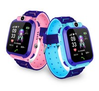 gps-uhren für kinder großhandel-Q12 1,44 Zoll wasserdichte Smartwatch für Kinder Touchscreen-Kamera Kinderuhren IP67 SOS GPS Positioning Call Location Clock