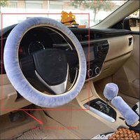 Wholesale christmas color wheel for sale - Group buy Universal Plush Car Steering Wheel Cover Warm Solid Slip Wheel Cushion Protector Party Favor Car Decoration Party Favor Color