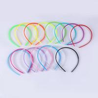 acessórios da menina coreano doces venda por atacado-10 pçs / lote coreano moda 4mm hairband acessórios para o cabelo sólidos doces cor de plástico headband cocar bonito meninas hoop aro headband