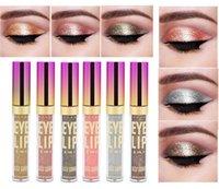parlayan göz farı kalemleri toptan satış-Yeni Sıvı Glitter Göz Farı Kalem Shimmer Eyeshadow Su geçirmez Uzun ömürlü Göz Farı Göz Makyajı