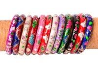 Wholesale chinese alloy bangle resale online - Yingwu Chinese Crafts Cloisonne Enamel Bangle Bracelet Children Charming Elegant Alloy Ethnic Bracelets Version Jewelry