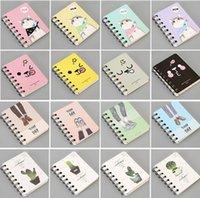 venda de livros de bolso venda por atacado-Hot sale Kawaii Japão dos desenhos animados Animais Bonitos bobina caderno diário Agenda livro de bolso material escolar