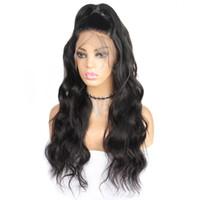 human hair wigs оптовых-10А объемная волна парики 360 полный парик человеческих волос шнурка 10