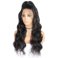Wholesale mix color lace wig for sale - Group buy 10A Body Wave Wigs full lace human hair wigs quot quot Straight Human Hair Wigs Brazilian Hair Swiss Lace Cap