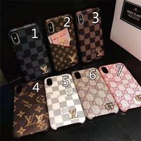 gps-tracking für handys großhandel-Ein stück luxus telefon case für iphone x xs xr xs-max 7 7 plus 8 8 plus kartenhalter leder designer telefon case