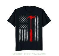 tischler-shorts großhandel-Carpenter Us Flag Shirt, American Carpenter Flag Printed T-Shirt Kurzarm-T-Shirt für Herren Sommer Stree Twear