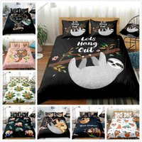 Wholesale large bedding set resale online - Cute Animal Sloth Series Bedding Piece Set Full Size Bedding Large