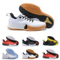 sapatas novas do kobe venda por atacado-2019 Barato Nova Chegada Dos Homens Kobe Mamba Foco Sapatos de Basquete de Alta Qualidade Branco Preto Vermelho Amarelo Zoom KB Sneakers De Luxo Rápido grátis 40-46