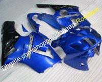 ingrosso zx12r blu-02 03 04 ZX 12R Ninja Fairings per Kawasaki ZX-12R 2002 2003 2004 ZX12R Custom Blue Black Carenatura Set (Stampaggio a iniezione)