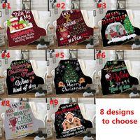 Wholesale design bedding for sale - Group buy 8 Design Baby Christmas Blankets Sherpa Fleece D Cartoon Blankets Winter Swaddling Bedding Quilt Nap Blanket Christmas Home Carpet C102305