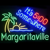 Wholesale margaritaville neon resale online - New Star Neon Sign Factory X14 Inches Real Glass Neon Sign Light for Beer Bar Pub Garage Room It s Some Where Margaritaville