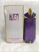 хорошие ароматы оптовых-Леди Womens Духи Eau De Parfume Mugler Alien Lasting Аромат Дезодорант Хорошие Качественные Ароматы Парфюмерия Ладан-спрей 90мл 3.4 унции коробка