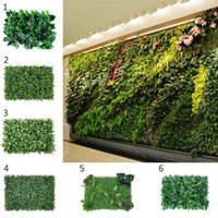 Wholesale fake grass mats resale online - Wall Grass Grass Mat Green Artificial Plant Lawns Landscape Carpet Fake Hedge Plant Fake Wall Garden