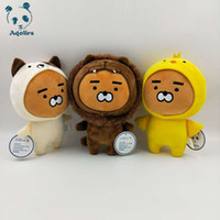 Wholesale boys toys for sale - Korean super star little Kakao Friends Plush Toy Ryan Cocoa Dolls Cartoon Figure Soft Cushion Kids girl boy Birthday Gifts