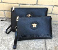 Wholesale hair clutches resale online - Medusa Hot Selling Fashion Ladies Hand Bags Women S Casual Handbags Men S Wallett Big Trademark Fashion Bag Clutch Bag Wallet