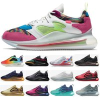Wholesale hot woman nude art resale online - 720s OBJ Be True Running Shoes Northern Lights throwback future Hot lava neon collection Sunrise C Womens Mens Designer Sneakers trainers