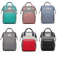 Wholesale baby blue handbags resale online - Baby Diaper Nursing Bag Mummy Maternity Backpack Brand striped patchwork Nappy Organizer Handbags Travel Outdoor Totes Shoulder Bags AAA2086