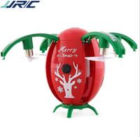 gerçek uzaktan kumandalı helikopter toptan satış-JJRC H66 Noel Yumurta WIFI FPV Özçekim Drone Yerçekimi Sensörü Modu irtifa Çocuklar için RC QuadCopter RTF Tutun Noel Hediyesi Mevcut
