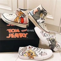 Wholesale adult gym shoes resale online - 2019 NEW Fashion New Unisex High Top Adult Women s Men s Canvas Running Shoes Mouse Pattern Laced Up Casual Shoes Sneakers Shoes
