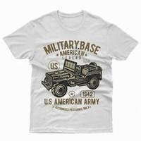coche de color del ejército al por mayor-T Shirt Shirtld Shirt Willys Military Army War Car Motores de regalo
