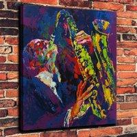 nackter kunstmann großhandel-Leroy Neiman Sax Mann, 1 Stück Home Decor HD gedruckt moderne Kunst Malerei auf Leinwand (ungerahmt / gerahmt)