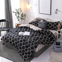 Wholesale white pink sheets black bedding for sale - Group buy modern bedding AU US FR Size Duvet Cover Pillowcase SIZE No Sheet No Filler