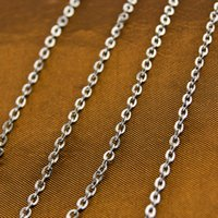 Wholesale steel chain meter resale online - Simsimi stainless steel Rolo chain Sell in meter mm thin fashion necklace cable style woman DIY necklace