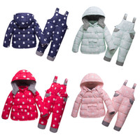 Wholesale white animal hood online – oversize Baby Down Jacket Set Baby Girls Cartoon Unicorn Coat Kids Designer Clothes Infant Baby Hooded Jacket Winter Down Trousers Outfits Suit