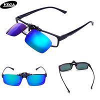 polarisiert über brille sonnenbrille großhandel-VEGA Frühling polarisierte Klipp auf Sonnenbrillen für Korrekturbrillen über Sonnenbrillen Flip Up Brille Clip On Shades