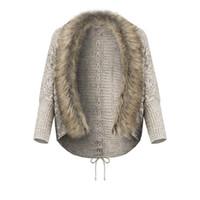 искусственные меховые покрывала оптовых-Womens Teddy Hooded Fluffy Coat Fleece Faux Fur Jacket Ladies Tops Cover