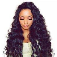 insan saç peruk ayrılık toptan satış-Uzun Bölüm Tasarım 13x6 Dantel Ön İnsan Saç Peruk Gevşek dalga brezilyalı Saç Dantel Ön Peruk Gevşek Dalga Kıvırcık Dantel Ön Peruk