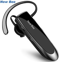 Wholesale bluetooth bee online - New Bee Hands free Wireless Bluetooth Earphone Bluetooth Headset Headphones Earbud with Microphone Earphone Case for Phone