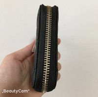 Wholesale lady famous designer wallet for sale - Group buy 2019 Classic black Famous fashion zipper hand take bag C wallets card package design purse for ladies collect luxury design items vip gift