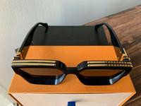 logos vintage al por mayor-2019 Luxury MILLIONAIRE M96006WN Gafas de sol de montura completa Gafas de sol de diseñador vintage para hombres Shiny Gold Logo Venta caliente Chapado en oro Top 96006
