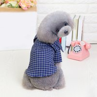 Wholesale dog bow sunglasses for sale - Group buy Pet Dog Wedding Plaid Cclothes Suit with Bow Tie Gentleman Garment Formal Party Dog Jacket Coats Cothes Costume