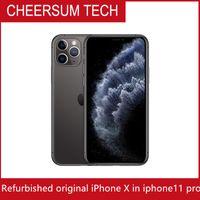 refurbished Original Unlocked 5.8 inch iPhone X in iPhone 11 pro style Apple iPhone 11 pro RAM 3GB ROM 64GB 256GB