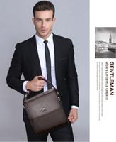 soğutma pop toptan satış-Marka yeni pop moda serin çanta erkekler 100% hakiki deri zip modu çok fonksiyonlu kısa vaka iki renk ücretsiz kargo iş omuz çantası