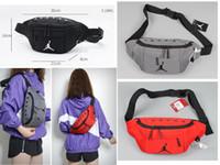 koşu bandı toptan satış-Adam kadınlar kızlar için hava jordam marka çanta gençlik aj Spor Koşucu Fanny Paketi Göbek Bel Bum Çanta Spor Koşu Kemer Koşu Kese Geri ızgara