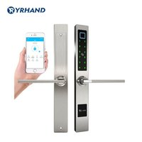 Wholesale bluetooth for glasses for sale - Group buy Waterproof European Style Bluetooth fingerprint access electronic Smart door lock For Aluminum Glass Door T191029