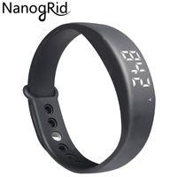Wholesale smart watch w5 online – W5 Smart Band Pedometer Temperature Sleep Monitor LED Smart Bracelet Fitness Activity Tracker watch Sports D Wristband