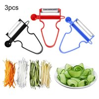 cortador mágico de cocina al por mayor-3 unids / set Fruit Slicer Shredder Peeler Verduras Cortador Multi Peel Cuchilla de acero inoxidable Rallador Utensilios de cocina Magic Trio Peeler Set
