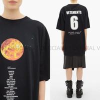 mejores camisas transpirables al por mayor-caliente ! Los mejores 19FW Vetements Planet moon Número de estrella púrpura 6 7 8 Impreso Moda Camiseta Verano Fresca Transpirable Camiseta Casual Hombres simples
