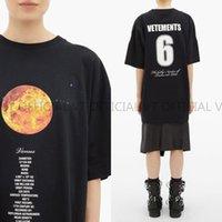 meilleures chemises respirantes achat en gros de-chaud! Meilleur 19FW Vetements planète lune numéro étoile pourpre 6 7 8 T-shirt imprimé de mode été respirant Cool Tee Casual simple hommes