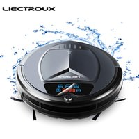 Wholesale robot sensors resale online - LIECTROUX Robot Vacuum Cleaner B3000 LED Touch Screen Self Recharging Suction Outlet Remote Control Anti fall Sensor Y200320