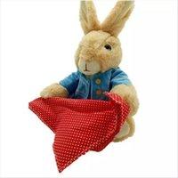 peek boo spielzeug großhandel-30 CM Elektronische Kaninchen Gefüllte Plüsch Puppe Interaktive 12 '' HideSeek Peek a Boo spiel Baby Animieren plüschtier Musik Singen Song Kinder Spielzeug