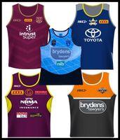 chaleco azul al por mayor-2018 Cowboys Wests Tigers Brisbane Broncos Maroons camisetas de rugby Singlet Nueva Gales del Sur Blues Estado NRL Liga nacional camiseta nrl