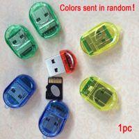 ingrosso lettore di carte ad alta velocità-Lettore di schede micro Mini TF ad alta velocità USB 2.0 Micro T-Flash TF Lettore di schede di memoria Colore casuale