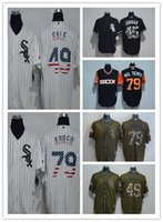 Wholesale yoyo blue resale online - new Men Chicago Jerseys FlexBase Jersey Grey Black white salute yoyo Jackson sox Sale Thomas Michael Baseball black color